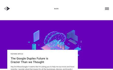 Screenshot of Blog c42d.com - Insights and Thought Leadership | C42D - captured Dec. 7, 2018