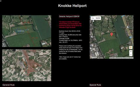 Screenshot of Home Page knokkeheliport.be - Helimo - Knokke Heliport - captured Jan. 9, 2016