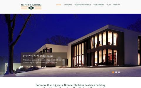 Screenshot of Home Page brennerbuilders.com - Brenner Builders - captured Sept. 30, 2014