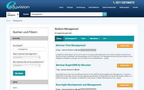 Screenshot of Team Page eduvision.de - Studium Management   Folgen Sie den kostenlosen Probestunde! - captured July 18, 2017