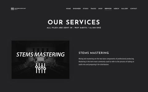 Screenshot of Services Page masteringservice.net - Mixing and mastering - MasteringService.net - captured July 27, 2018