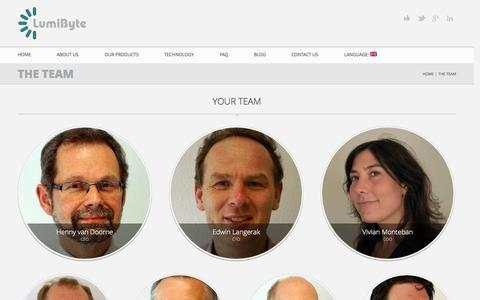 Screenshot of Team Page lumibyte.eu - [:en]Your Team for RMM [:nl] Uw Team voor RMM | LumiByte - captured Oct. 3, 2014