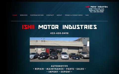 Screenshot of Home Page 141motors.com - Ishii Motor Industries - captured Oct. 6, 2014