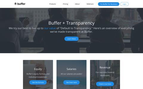 Buffer's Transparency Dashboard | Buffer