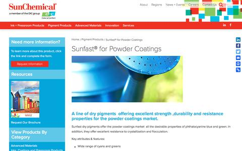 Sunfast® for Powder Coatings | Sun Chemical