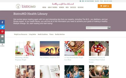 Screenshot of Blog bistromd.com - Health Library - captured Feb. 10, 2019