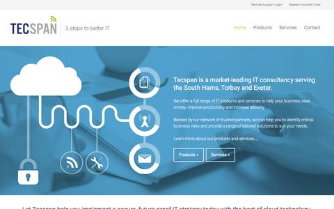 Screenshot of Home Page tecspan.co.uk - Tecspan IT Consultancy | South Hams | Torbay | Exeter - captured Feb. 28, 2016