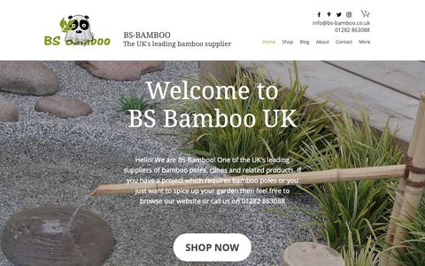 Screenshot of Home Page bs-bamboo.co.uk - Bamboo Poles | United Kingdom | Bamboo Canes - captured Oct. 26, 2018