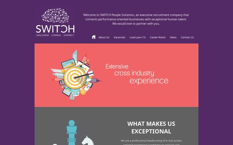 Screenshot of Home Page switchccc.com - Executive Jobs Search | Executive Recruitment | Switch People Solutions - captured Oct. 9, 2014