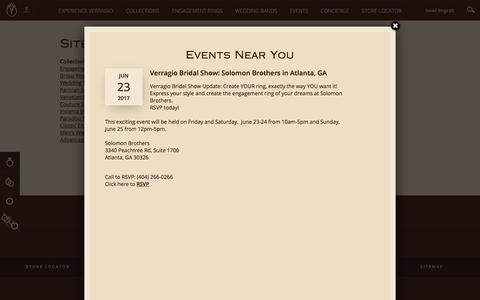 Screenshot of Site Map Page verragio.com - Sitemap   Designer Engagement Rings and Wedding Rings by Verragio - captured June 17, 2017