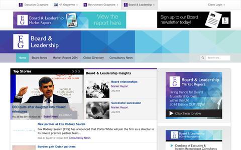 Screenshot of Press Page executive-grapevine.com - Executive Grapevine Board & Leadership - captured Sept. 30, 2014