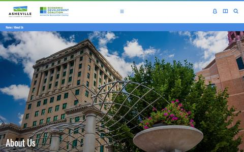 Screenshot of About Page ashevillechamber.org - About Us - Asheville Area Chamber of Commerce - captured July 2, 2018