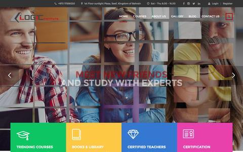 Screenshot of Home Page logic-institute.net - Training Starts Here – Logic Institute HRD - captured Nov. 12, 2016