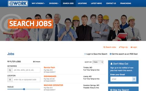 Screenshot of atwork.com - Jobs - captured Feb. 3, 2017