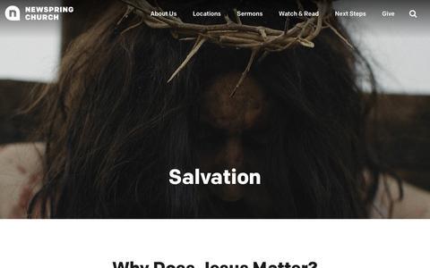 Salvation | NewSpring Church