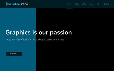 Screenshot of Home Page photoshop-school.org - Home - Photoshop School - captured Dec. 11, 2018