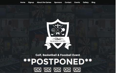 Screenshot of Home Page utahbusinessgames.com - Utah Business Games - captured Sept. 30, 2014