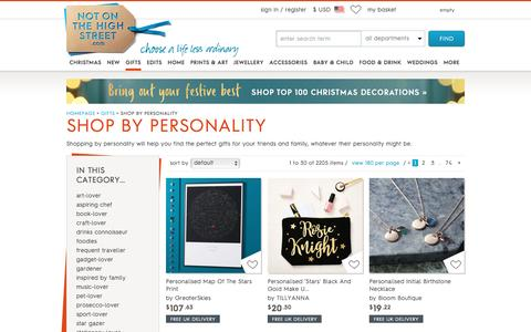 shop by personality   notonthehighstreet.com