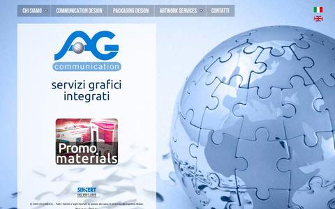 Screenshot of Home Page ag-italia.com - AG - Servizi Grafici e Packaging - captured Oct. 4, 2014