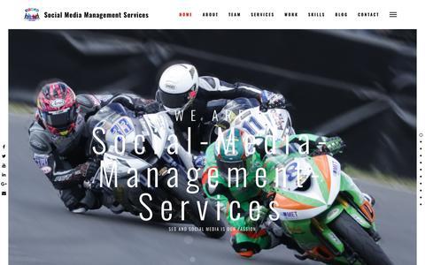 Screenshot of Home Page social-media-management-services.com - Social Media Management Services – Social Media Tips - captured April 3, 2019