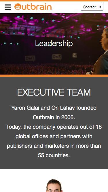 Screenshot of Team Page  outbrain.com - Meet our Executive Team | Outbrain.com