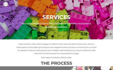 Screenshot of Services Page dhpstudios.com - Services   Corporate Video Production   Video Marketing - captured Oct. 9, 2018