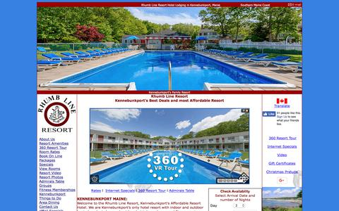 Screenshot of Home Page rhumblineresort.com - Rhumb Line Resort, Kennebunkport Maine - captured July 3, 2018