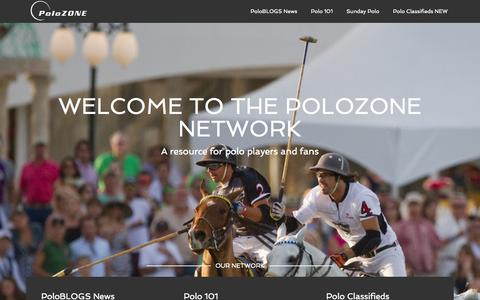 Screenshot of Home Page polozone.com - PoloZONE – Network - captured Sept. 30, 2014