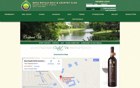 Screenshot of Maps & Directions Page bocaroyale.com - Map - Boca Royale Golf & Country Club - captured Oct. 5, 2014