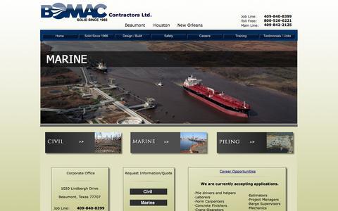 Screenshot of Home Page bo-mac.com - BOMAC - captured Oct. 5, 2014
