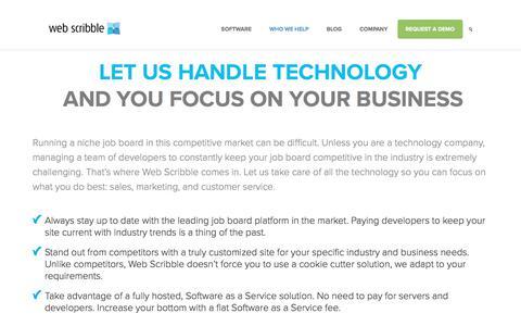 The #1 Platform for Niche Job Boards | Web Scribble