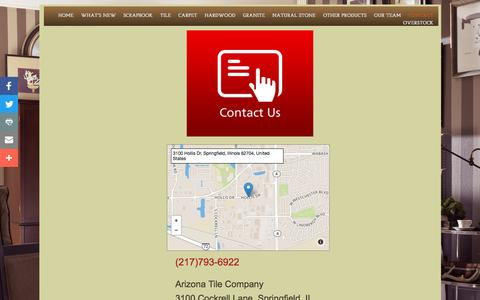 Screenshot of Privacy Page Contact Page ariztile.com - Arizona Tile Company in Springfield, Il : Contact - captured April 26, 2017