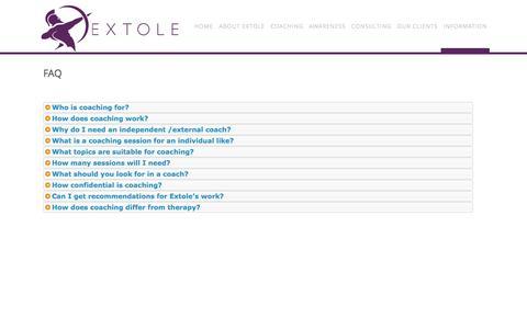 Screenshot of FAQ Page extole.eu.com - FAQ - captured March 1, 2016
