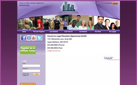 Screenshot of Contact Page cleodivercitynetwork.org - CLEO diverCITY Network - Contact us - captured Oct. 3, 2014