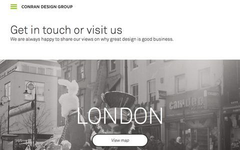 Screenshot of Contact Page conrandesigngroup.com - Conran Design Group - Contact - captured Dec. 11, 2015