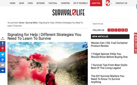 Signaling for Help | Different Strategies You Need To Learn To Survive