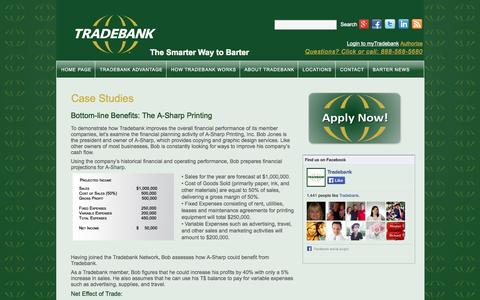 Screenshot of Case Studies Page tradebank.com - Case Studies | Tradebank International - captured Sept. 19, 2014