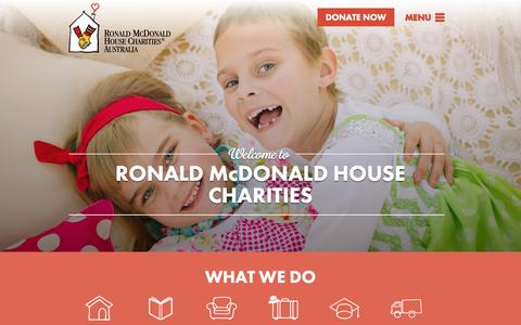 Screenshot of Home Page rmhc.org.au - Helping Sick Children & Their Families   RMHC Australia - captured Sept. 7, 2015