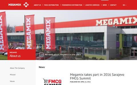 Screenshot of Press Page megamix.ba - News - Megamix d.o.o. - captured Aug. 10, 2016