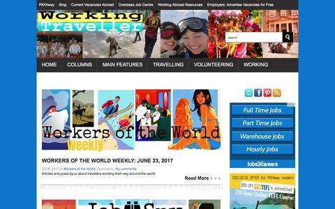 Screenshot of Blog the-working-traveller.com captured June 23, 2017