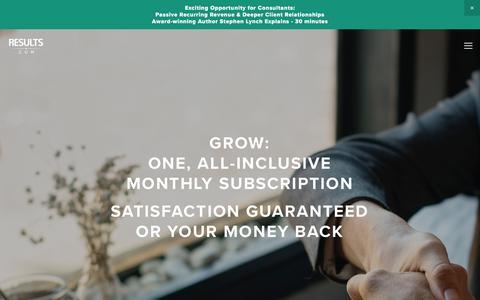 Screenshot of Pricing Page results.com - Grow — RESULTS.COM | Management Platform - captured Dec. 22, 2017