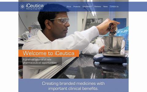Screenshot of Home Page iceutica.com - Home | iCeutica - captured Sept. 11, 2014