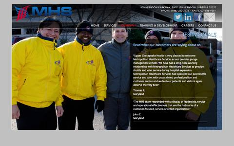 Screenshot of Testimonials Page metropolitanhealthcareservices.com - Testimonials - captured Oct. 27, 2014