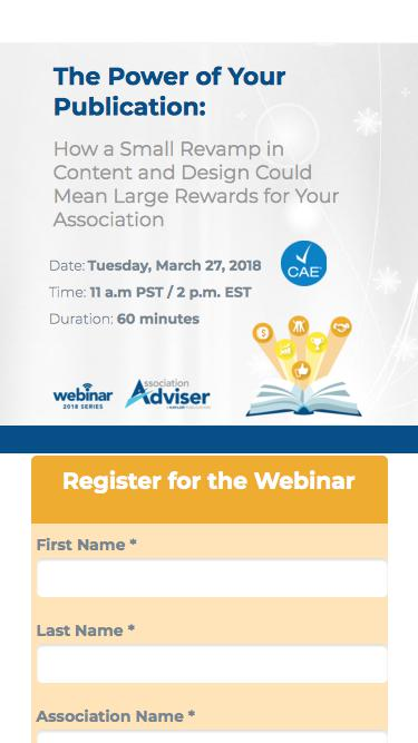 Webinar: The Power of Your Publication - Association Adviser