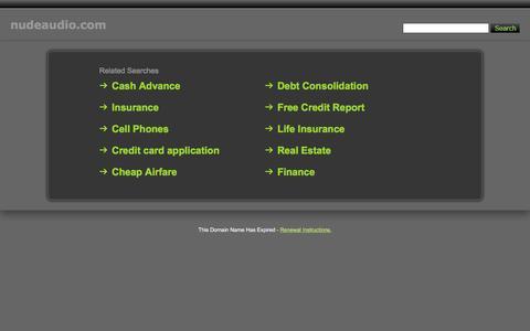Screenshot of Home Page nudeaudio.com - Nudeaudio.com - captured April 19, 2016