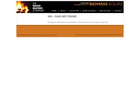 Screenshot of Terms Page 404 Page twhcbiomass.com - 404 - Page Not Found - captured Nov. 5, 2014