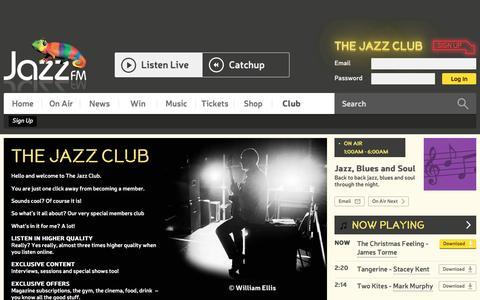 Screenshot of Signup Page jazzfm.com - Sign Up | Club | Jazz FM - captured Dec. 21, 2015