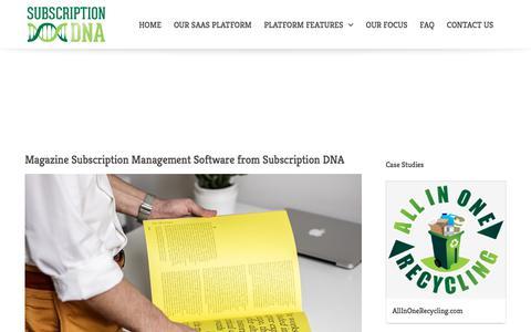 Screenshot of Blog subscriptiondna.com - Subscription DNA Blog | Cloud Billing & Management Software - captured Oct. 24, 2017