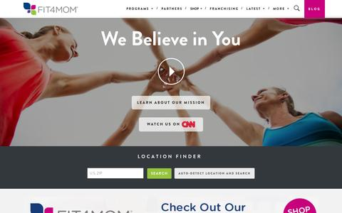 Screenshot of Home Page fit4mom.com - FIT4MOM - FIT4MOM - captured Oct. 24, 2015