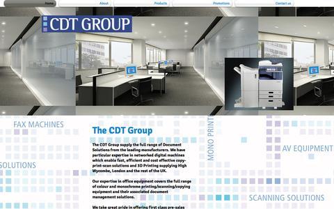 Screenshot of Home Page citydigitaltechnology.biz - CDT Group Ltd - captured Jan. 23, 2015